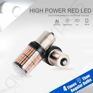 2x High Power Cree 1156 Led 6000k Tail Light Red 144 Smd 3014 Chip Great Power