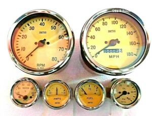 Smiths Replica Kit Elec Temp Oil Fuel Amp Gauge speedometer tacho 100 Mm