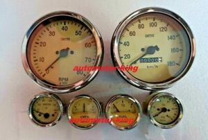 Smiths Replica Kit Elec Temp Oil Fuel Amp Gauge kmph Speedo tacho 100 Mm