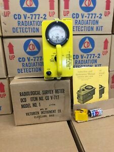 Victoreen Cdv 717 Model 1 Radiation Detector With Original Packaging 77190
