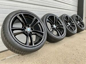 4 Black Bmw 5 7 M Sport 7 09 17 20 Factory Oem Staggered Wheel Tire Package
