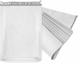 50 Pack Gusseted Poly Mailers Shipping Bags White Large Envelopes 2 4mil