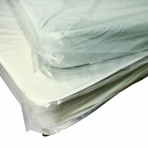 Roll Of Pillow top Style Mattress Bags w Vent Holes 33 X 59 5 Plastic