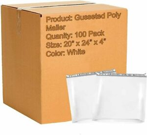 20x24x4 Poly Mailers Shipping Bags Plastic Envelopes Large 2 5mil 100 Qty