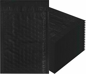 All Size Black Poly Bubble Mailers Padded Shipping Envelopes 10 25 Pack