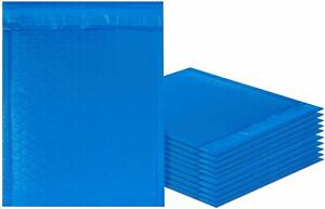 10 25 Pack Blue Poly Bubble Mailers Padded Envelopes 6 5x9 8 5x 11