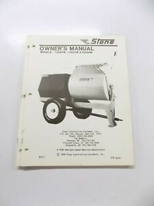Stone Mixer 1265pm 1285pm 1650pm Owners Manual
