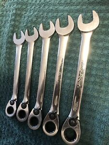 Blue Point Tools 5pc Metric Ratcheting Reversible Combination Wrench Set 15 19mm
