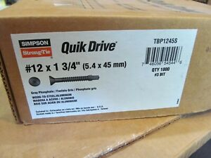 Quikdrive Tbp1245s 12 X 1 3 4 Wood to steel Screw 1000 Quick Drive Quik