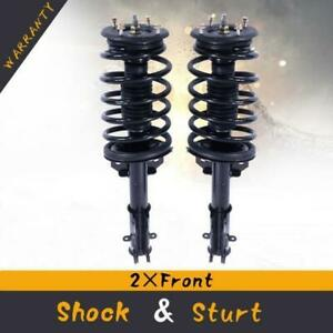 For 05 10 Ford Mustang Front Quick Complete Shock Strut Coil Springs Pair X2