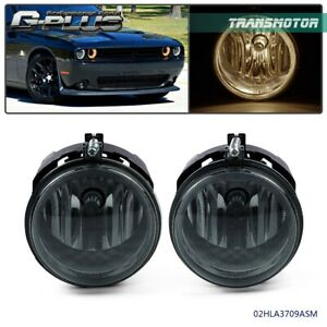 Fit For Dodge Charger 2006 2009 Smoke Lens Bumper Fog Light Lamp Replacement