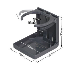 1x Universal Adjustable Folding Cup Drink Holder Car Truck Boat Camper Rv Black