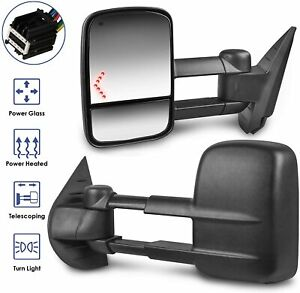 Power Heated Towing Mirrors Bulit in Signal For 07 13 Tahoe Silverado Avalanche