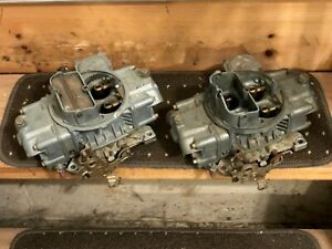 Holley Carburetors 80508 Pair Tunnel Ram Blower Race 750 Carbs Dual Quad Used