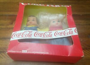 MIB Coke Kids Coca-Cola Dolls Vintage 1986 Never Opened Girl and Boy Set RARE