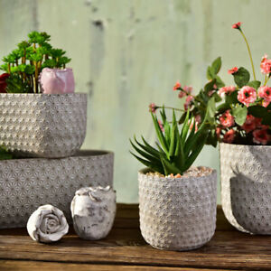 Round Silicone Mold Concrete Flowerpot Mould Handmade Craft Cement Planter Tool $87.75
