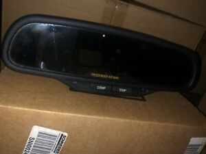 2003 2009 Chevy Silverado Sierra Tahoe Rear View Mirror Compass Temp Auto Dim
