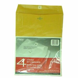 Meadwestvaco 76012 9 X 12 Heavyweight Kraft Clasp Envelopes 4 Count