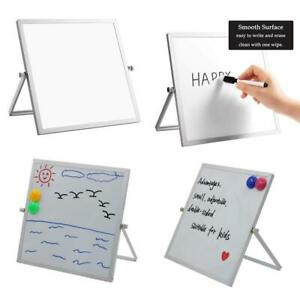 Dry Erase White Board Desktop Rotatable Easel Double sided F Office Home School