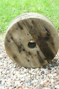 Large 13 Antique Industrial Manufacturing Wooden Wheel
