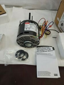 1 2 Hp Direct Drive Blower Motor Split Capacitor 1075 4 Rpm 115v 3lu83bh