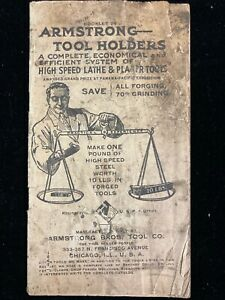Vintage Armstrong Lathe Tool Holders Catalog No 24