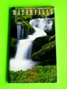 2 Year 2020 21 2 Yr Planner Waterfalls Monthly Pocket Small Calendar Red Flowers