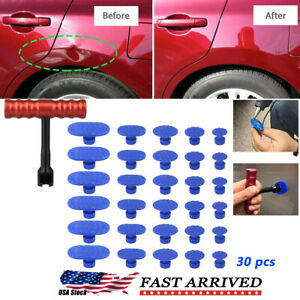 Car Body Paintless Dent Repair Removal Tool Puller Lifter T Bar Pulling Tabs Set