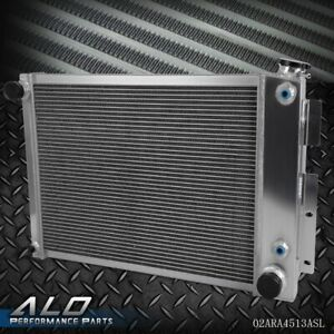 Aluminum Performance Radiator Silver For 1968 1969 Chevy Camaro Pontiac V8 Mt
