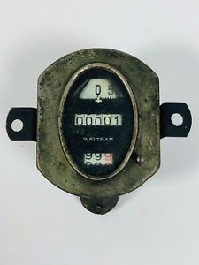 Vintage Model A Ford 1928 1930 Waltham Oval Original Speedometer