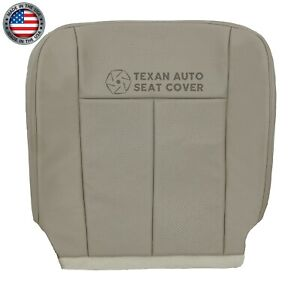 2007 2014 Ford Expedition Passenger Bottom Perforated Leather Seat Cover Gray