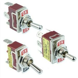 Single Or Double Pole Toggle Flick Switch 15a 250vac Spst Spdt Dpst Dpdt