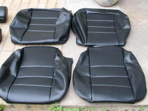 Bmw 635csi E24 L6 87 89 Comfort Seat Kit Black Vinyl Upholstery Kits New