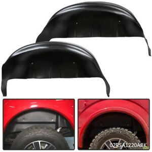 Pair Rear Wheel Well Liners Guards For 2017 2018 2019 Ford F250 F350 Black