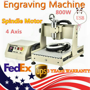 Usb 4axis 3040 Cnc Router Engraver Engraving Milling Machine 800w Water cooling
