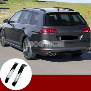 Black Rear Window Spoiler Side Wing Cover For Vw Golf 7 Variant Wagon 2013 2017