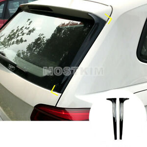 2x Rear Window Spoiler Side Wing Trim Cover For Volkswagen Vw Polo Mk6 2019 2020