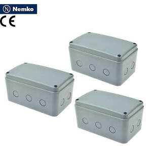 3 Pk Waterproof Junction Box Cable Connector Enclosure Case Ip66 181x111x100mm
