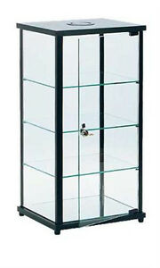 Square Glass Countertop Display Case 13 L X 11 D X 25 H Inches