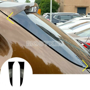 Black Rear Window Spoiler Side Wing Trim Cover 2pcs For Bmw X1 E84 2009 2015