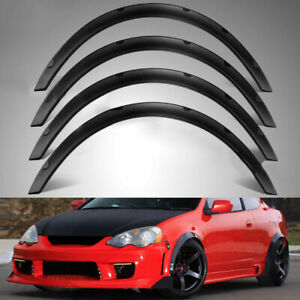 4pcs Universal Car Fenders Flares Guard Over Wide Body Wheel Arches For Car