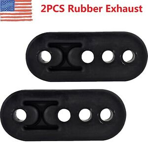 2 X Rubber Exhaust Tail Pipe Mount Brackets Hanger Insulator 4 Holes Universal