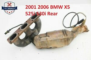 2001 2006 Bmw X5 525i 530i Rear Exhaust Manifold W Catalytic Converter Oem