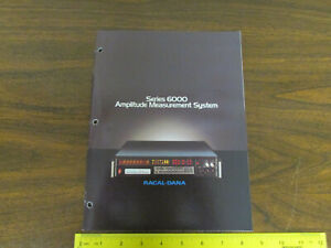 Racal dana Series 6000 Amplitude Measurement Electronics Test Equipment Brochure