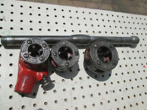 Ridgid 00 r Pipe Ratchet Threader Set 3 Cutter Heads Npt Inserts