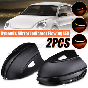 2x Side Mirror Dynamic Turn Signal Light Indicator For Vw Passat Scirocco Q