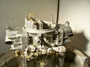 Holley 650 Cfm Double Pumper 4777 1 Plated And Polished And Rebuilt