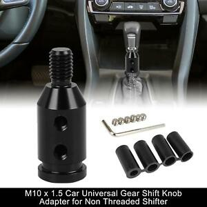 M10 X 1 5 Car Universal Black Gear Shift Knob Adapter For Non Threaded Shifter