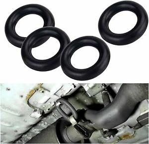 4pcs Set 2 O Ring Exhaust Mount Rubber Insulator Grommet Hanger Bushing Support