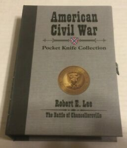 AMERICAN CIVIL WAR ROBERT E LEE POCKET KNIFE AMERICAN MINT COA 01939 item5278000 $30.60